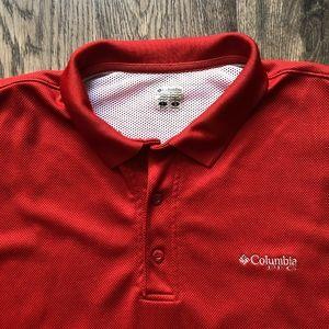 Columbia PFG | Men's Red PFG Polo sz L